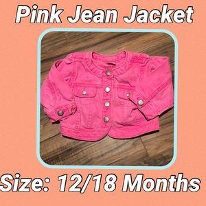 💗SALE💗 Bright Pink Jean Jacket